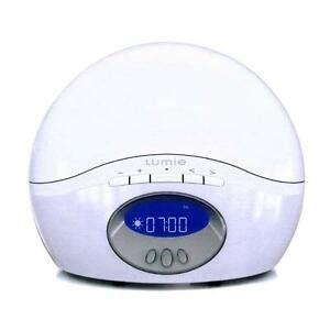 new lumie clock active 250 simulator alarm clock with fm radio white ebay