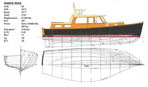 lobster boat designs plans white pine 38 downeast cruiser lobster boat hull with