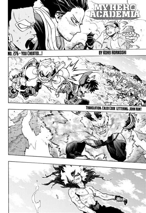 My Hero Academia Chapter 276 - My Hero Academia Manga Online