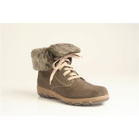 Faux Fur Lace Up Ankle Boots rieker lace up ankle boot in grey nubuck leather with faux