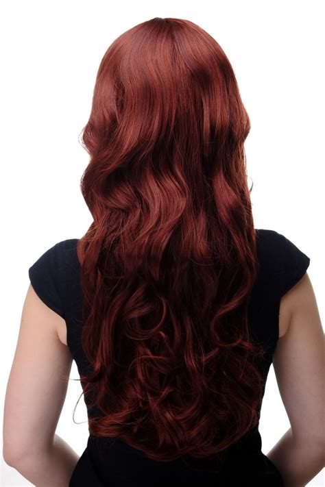 Hair Cliphairclipextention Smoothing 60 65cm wig braun brown mix wavy fringe smooth 285 33a