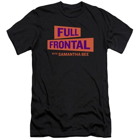 full frontal with samantha bee s01e33 frontal with bee logo black t shirt