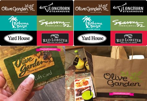 Darden Gift Card Promo Code - hurry free 10 to olive garden or red lobster limited time free stuff finder