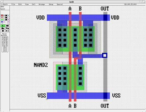 layout in photo sle cmos nand2 l edit layout