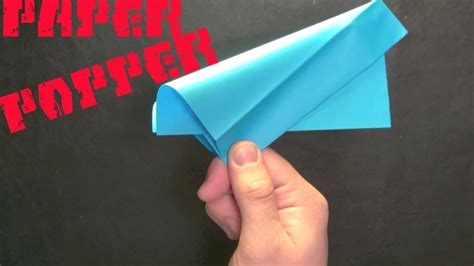 How To Make Things Pop Out On Paper - how to make a paper popper easy and loud