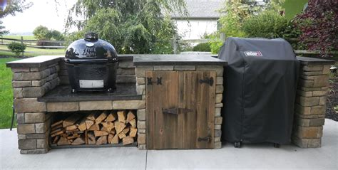 Diy Backyard Grill Finished Outdoor Grill Center Diy Outdoor Cooking Ideas Grilling Rustic Feel