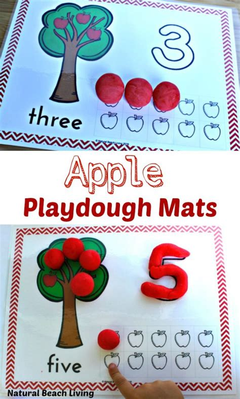 printable apple playdough mats winter animal printable number playdough mats natural