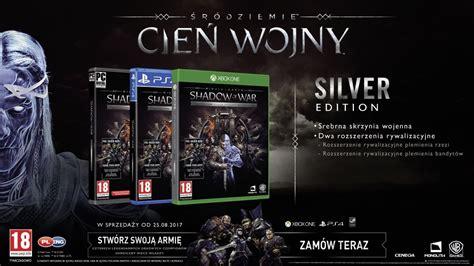 Middle Earth Shadow Of War Silver Edition Reg 3 Ps4 middle earth shadow of war śr 243 dziemie cień wojny