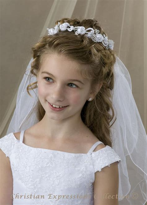 communion hairstyles buns first communion bun wrap veil v826 bridal veils first