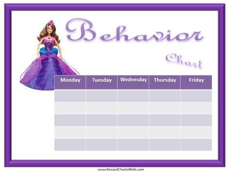 princess behavior chart editable  printable
