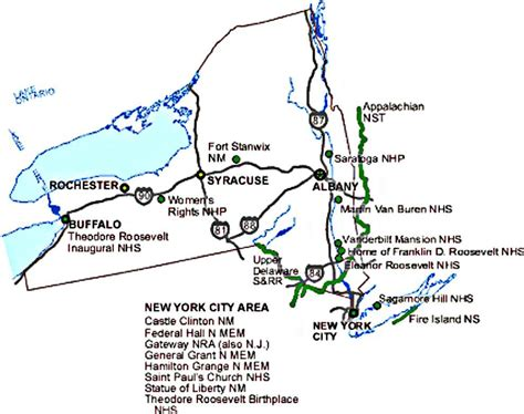 Nys Search New York State National Parks Map Nys Ny