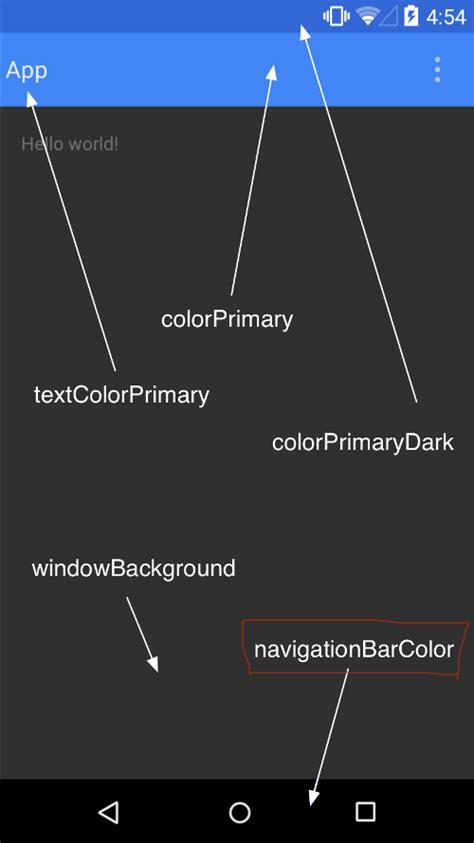 android layout xml background color android lollipop change navigation bar color stack overflow