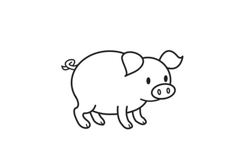 cartoon pig coloring page cute pig coloring pages