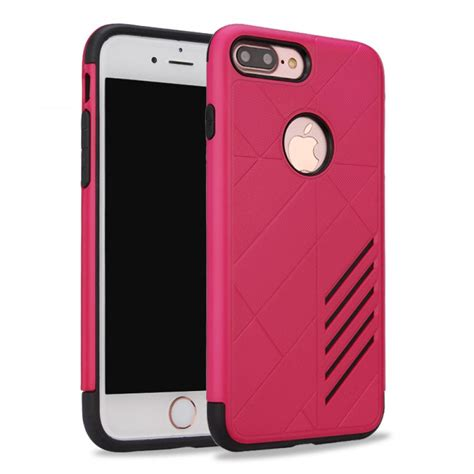 wholesale iphone   dual layer armor hybrid case hot pink