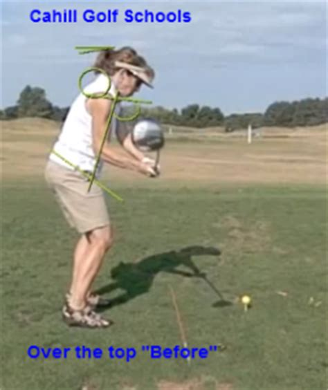 causes of over the top golf swing correcting golf over the top cahill golf instruction