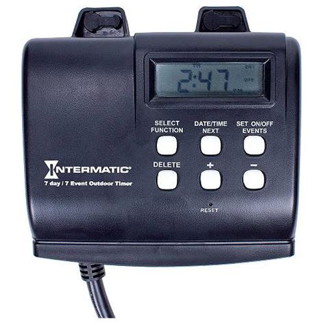 Battery Outdoor Lights With Timer Intermatic Hb880r 120 Vac 1 2 Hp Outdoor 7 Day Digital Timer With Battery Backup Ebay