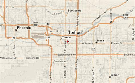 us map tempe arizona tempe location guide