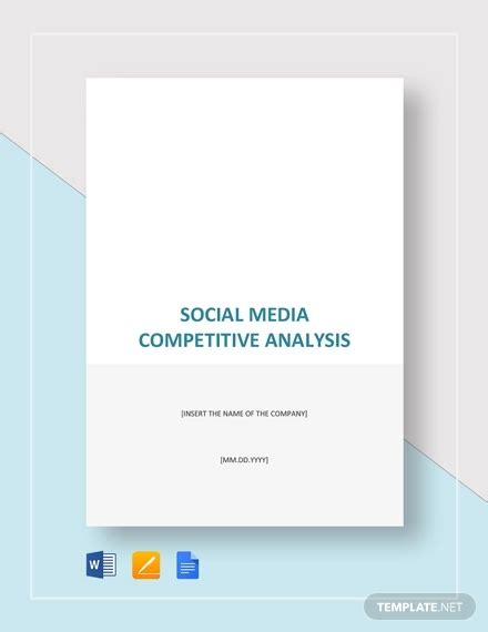 Competitive Analysis Template 14 Free Pdf Word Format Free Premium Templates Social Media Analysis Template