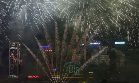 new year fireworks display hong kong 2015 world welcomes 2016 despite terror fears world