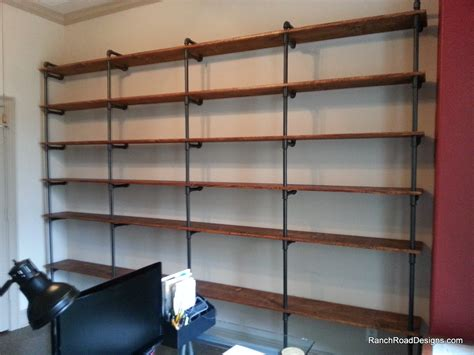 wood and pipe shelves industrial pipe shelving industrial chic concrete and