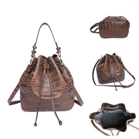 Tas Wanita Kulit Motif Buaya tas portabel wanita tas bahu dan tas tangan motif kulit