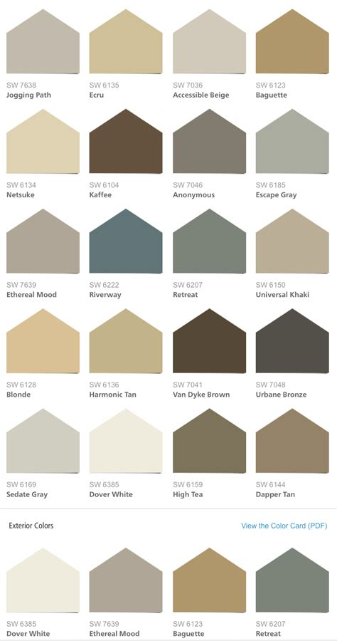 sherwin williams color palettes sherwin williams hgtv home neutral nuance color palette