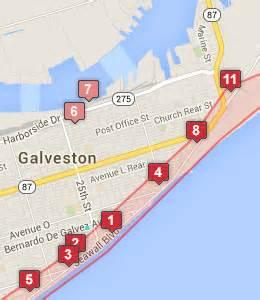 a m galveston cus map galveston beachfront hotels galveston tx