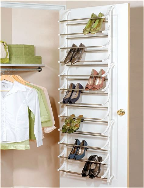 Closet Door Shoe Rack Saving Small Closet Spaces With Stainless Steel And Plastic Hanging Shoe Rack Storage The