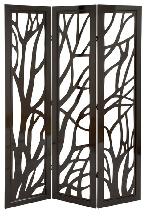 Chinese Floor Vases Privacy Divider Screen Tree Branch Pattern Brown Family