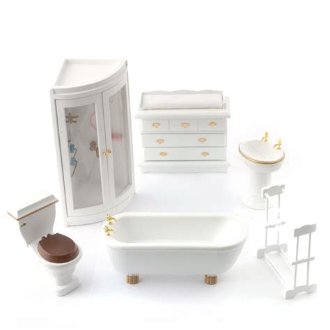 Dolls House Bathroom Furniture Df895 Dolls House Furniture Bathroom And Shower Minimum World