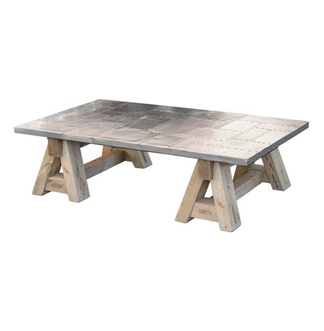 spitfire wwii fighter plane top sawhorse coffee table