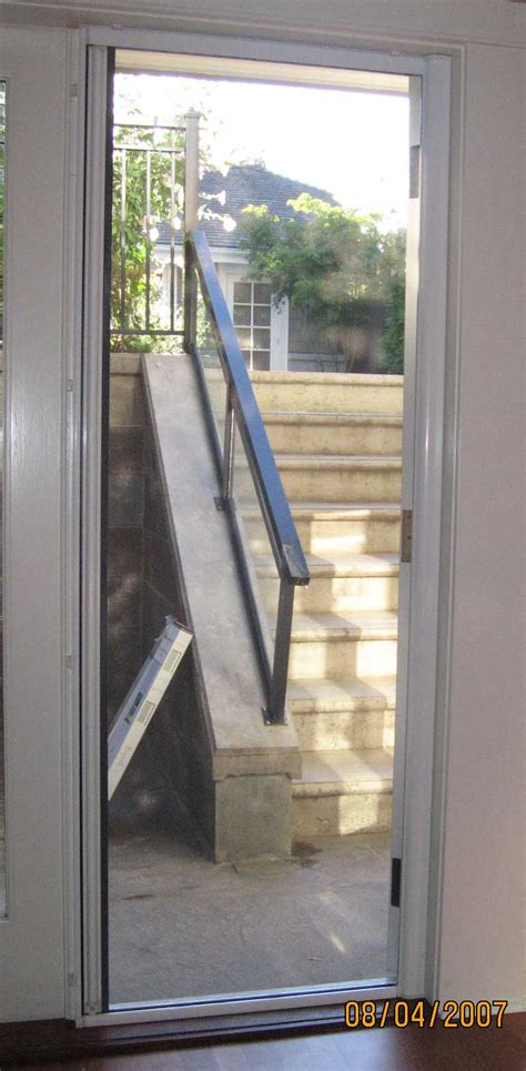 screen door for outward swinging door outswing doors quot drop bar pro quot professional grade