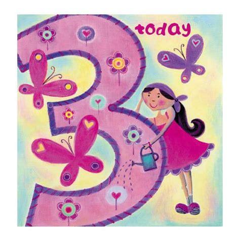 Third Birthday Card Age 3 Happy 3rd Birthday Card For Girls Birthday Cards