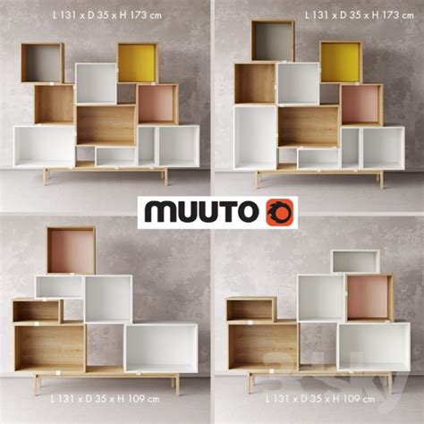 Muuto Stacked by 3d Models Sideboard Chest Of Drawer Adjustable
