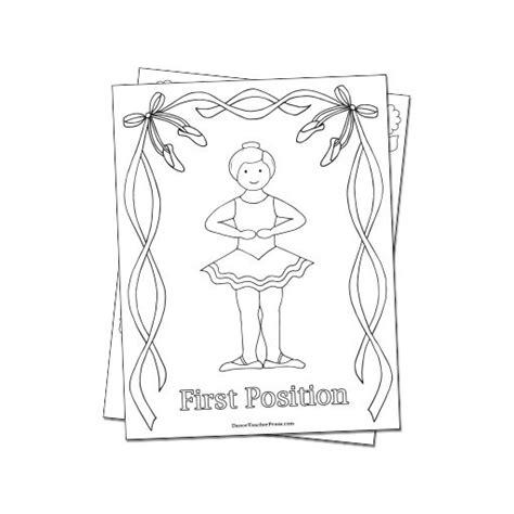 position coloring book pdf reproducible ballet coloring sheets