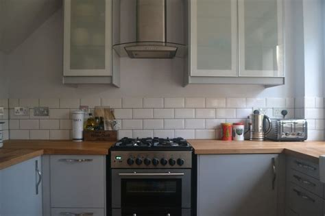 my completely renovated kitchen with ikea veddinge grey - Gray Subway Fliesen Küche