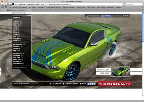 design dream truck online build your ultimate stang with ford s new mustang
