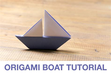 origami little boat learn how to make a cute origami sail boat