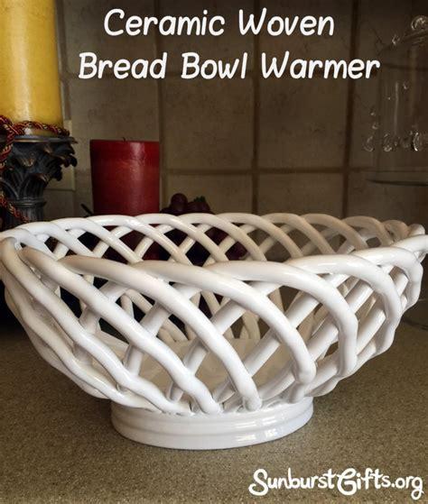 Ceramic Woven Bread Basket   Keeps Bread Warm   Thoughtful