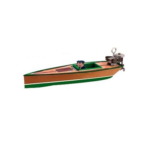 toy motor boat tin toy vintage out board motor boat