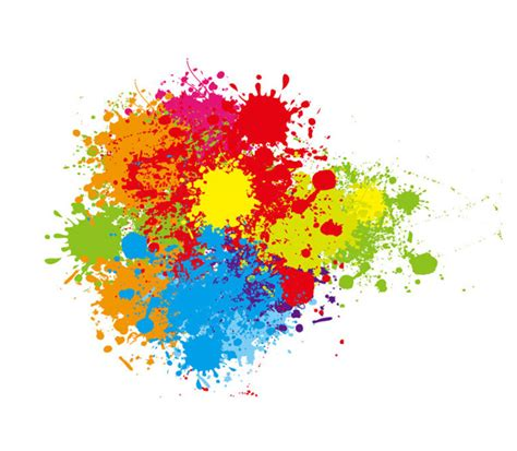colorful paint splatter vector 9136 welovesolo