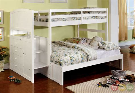 appenzell white bunk bed w built in front steps and