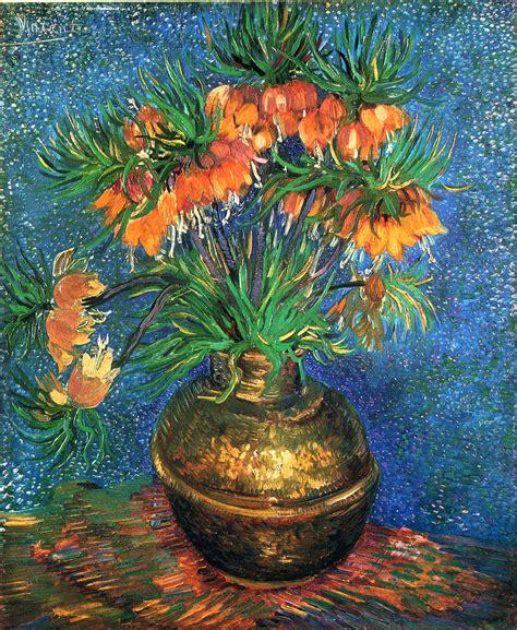 Gogh Flower Vase by Fritillaries In A Copper Vase Artist Vincent Gogh