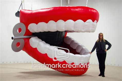 inflatable chattering teeth stage prop  garden