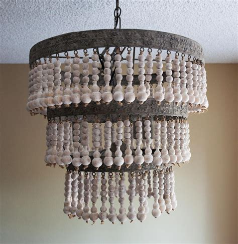 beaded wood chandelier best home placement wood bead chandelier best home decor ideas