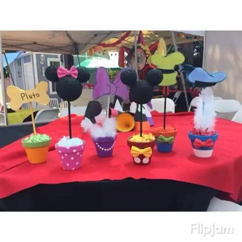 mickey mouse clubhouse centerpiece ideas mickey mouse clubhouse centerpieces adastra