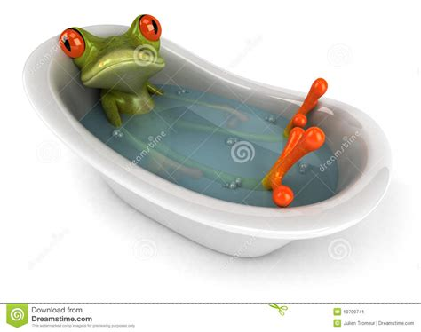 frog in bathtub frog in a bath stock image image 10739741