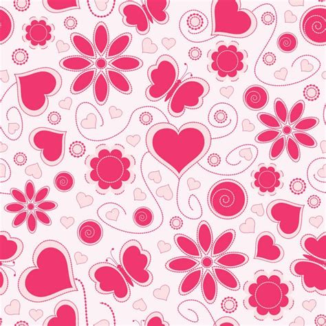 Love Pattern Background Vector | vector love pattern background free vector graphics