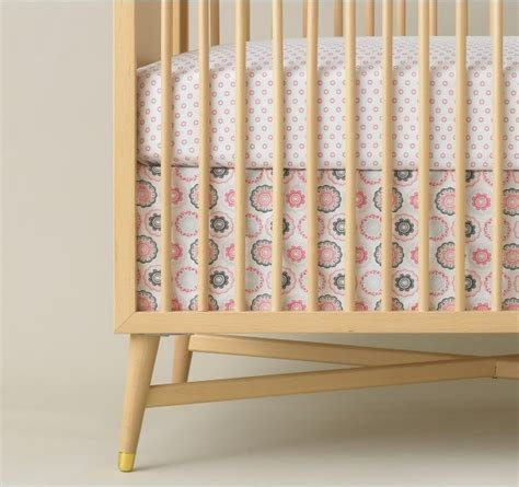 dwell baby bedding dwell studio crib skirt in zinnia rose nursery ideas