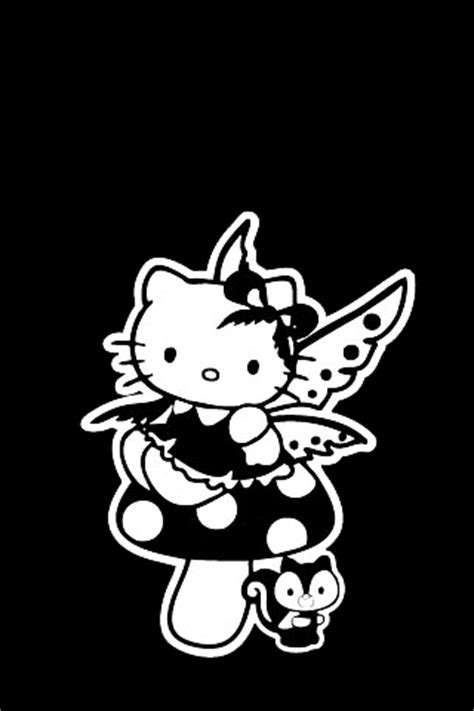 wallpaper hello kitty black and white hello kitty black white fairy iphone wallpaper iphone